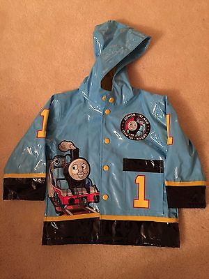 Toddler Thomas The Train Blue Hooded Raincoat Western Chief Size 3T