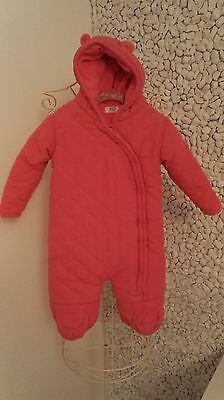 girls snowsuits 12-18 months by f&f excellent condition