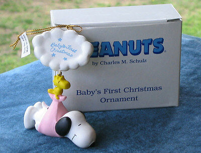Peanuts Snoopy Baby's First Christmas Ornament