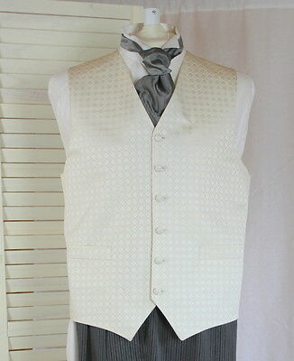 Beautiful Quality Mens Wedding Or Party Waistcoat Ivory 36 38