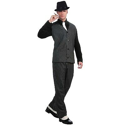 Mens 1920s Mobster Gangster Costume Roaring Twenties Party Outfit Suit