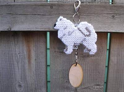 SAMOYED Dog crate tag or hang anywhere pet art handmade home decoration ornament