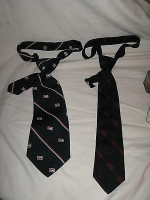 """Pepsi Cola Advertising Neckties - Lot Of 2 - Both Are 60"""" -"""