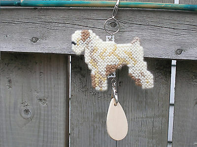 SOFT-COATED WHEATEN TERRIER #1 Dog crate tag or hang anywhere pet art decor