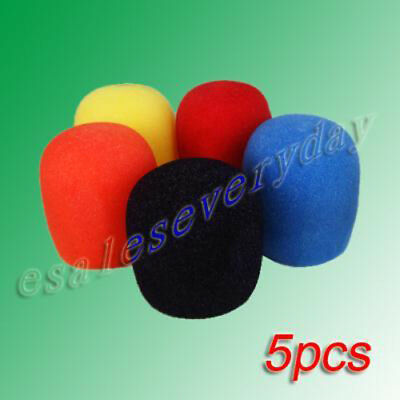 5 pieces Microphone Windscreen Pop Filter Sponge Foam Wind Shield Mic Cover