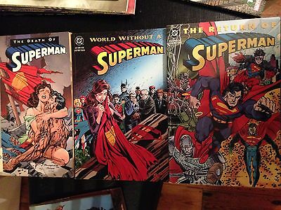 Death of Superman, World without a, Return of 3x graphic novels complete