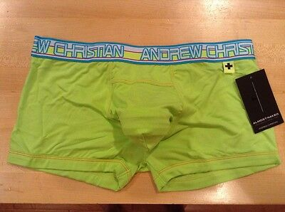 Almost Naked Boxer men's M - NEW - lime color - anatomically correct pouch