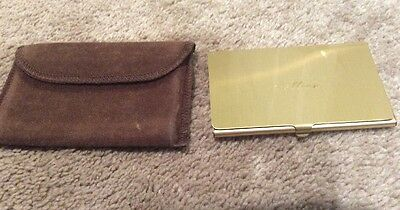 Business Credit Card Holder Slim Metal Gold Tone Finish Name COLLEEN