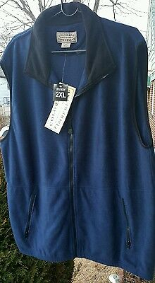 Colorado Timberline Men's Signature Sleeveless Fleece Vest Size 2XL Navy