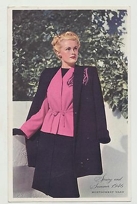 Rare Montgomery Wards 1946 Spring & Summer Catalog Cover Notification Postcard
