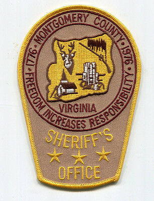 Montgomery County Virginia Sheriff's Office Patch