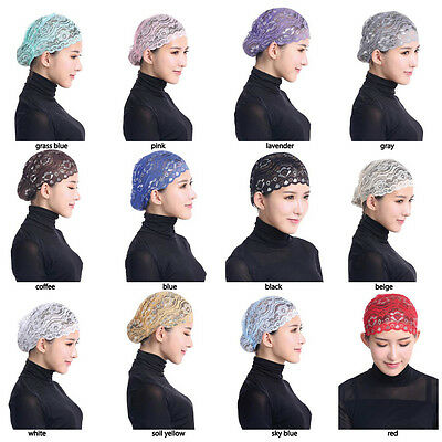 Muslim Inner Caps Women's Hijab Lace Hat Islamic Bonnet Head Cover Underscarf