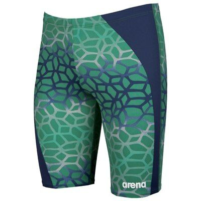 NEW Arena Mens Polycarbonite II Jammer - Green/Navy from Ezi Sports Store