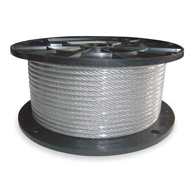 DAYTON 304 Stainless Steel Cable,7/16 In,L 100 Ft,WLL 3260 Lb, 2TAT1