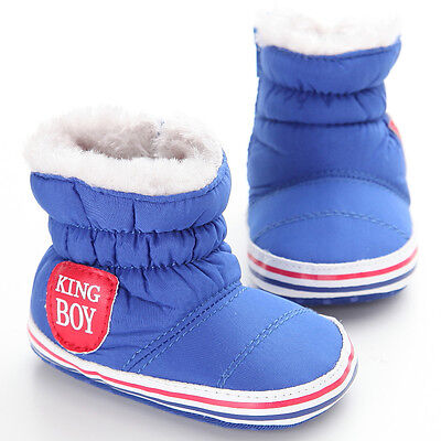 Good Quality Toddler Baby Girl Boy Winter Soft Sole Boots Infant Shoes Size 3