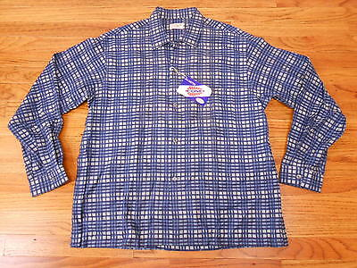 VTG 50's DEADSTOCK NEW CONE MILLS SANFORIZED PLAID SHIRT ROCKABILLY L 16 16.5