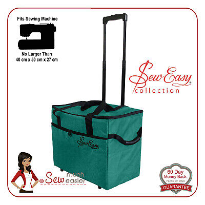 Sewing Machine Trolley Bag on wheels fits Janome Singer Brother Elna Bernette