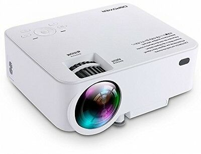DBPOWER T20 1500 Lumens LCD Mini Projector Multimedia Home Theater Video 1080P