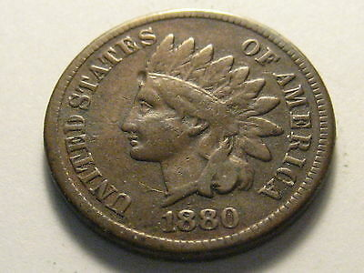 1880 Indian Head Cent Fine