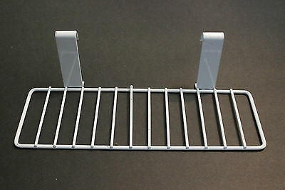 "Gridwall Grid Panel 4""x12"" Flat Shoe Shelf White - (10 Pieces)"