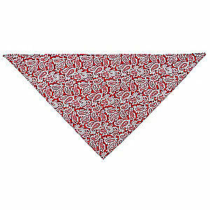 Cotton with Water Activated Beads Cooling Triangle Hat,Red Western, 25F551, Red