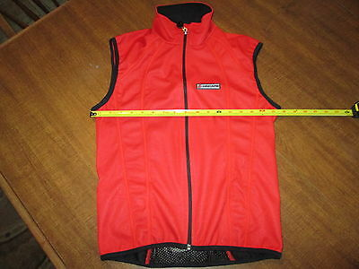 Hincapie Men's Cycling Wind Vest Red Reflective NWT Made in Italy $120 XS Small
