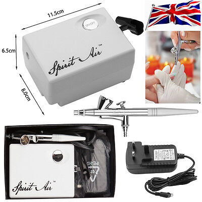 SP16 Mini Air Compressor Set Beauty Airbrush Kit 0.4mm Needle Nail Paint Art