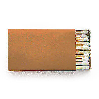 50 Plain Matchboxes with Matches in Bronze Wooden Matches