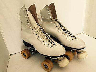 Riedell 220 Size 8 1/2 Womans Roller Skates with Century Plates Rannalli Wheels