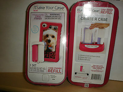 Make Your Case * Case Maker Silicone Refill Pack * Lot of 2 * PINK * New/Sealed