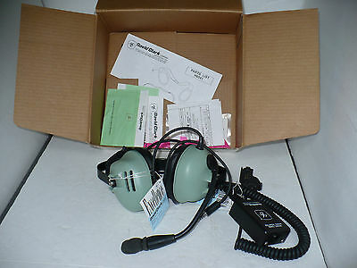 David Clark H6041 Two Way Communication Headset with Boom Microphone & Adapter