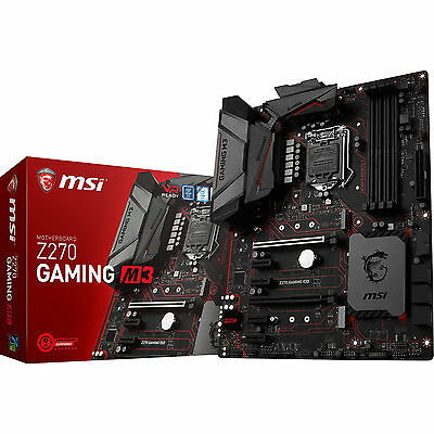 MSI Z270 Gaming M3 Intel LGA 1151 ATX Motherboard DDR4 M.2 USB Type-C DVI HDMI