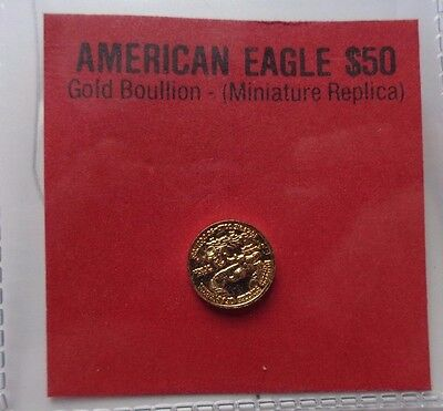 American Gold Eagle $50 Miniature 10 mm Novelty Very Unique USA Coin