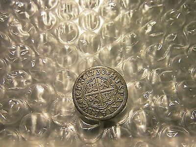 Spain 1 Real 1738 Sevilla Mint Silver Coin