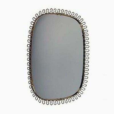 Mid Century Brass Loop Wall Mirror by Josef Frank for Svenskt Tenn, 1950s