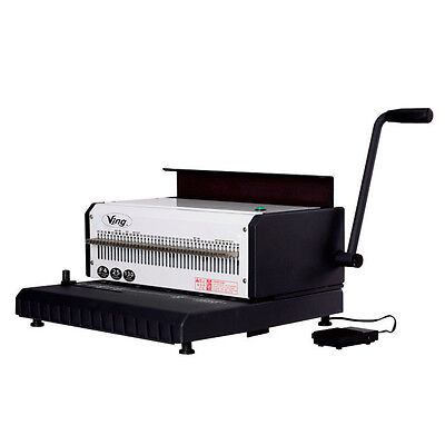 110V 40 Holes Electric Heavy Duty 3:1 Wire Binding Machine With Wire Closer