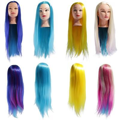 """26"""" Hair Styling Braiding Cosmetology Mannequin Hairdressing Training Head Dummy"""