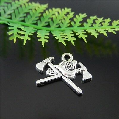 57x Vintage Silver Alloy Cross Axes Shaped Pendants Findings Craft Charms 51444