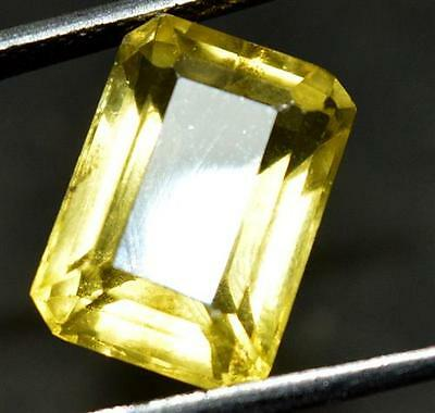 9.00 ct Natural Heliodor Yellow Color GGL CERTIFIED EMERALD SHAPE Gemstone