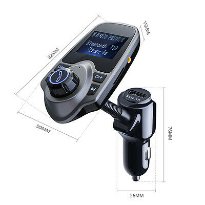 Bluetooth Car Kit FM Transmitter Wireless Radio Adapter  MP3 Player USB Charger