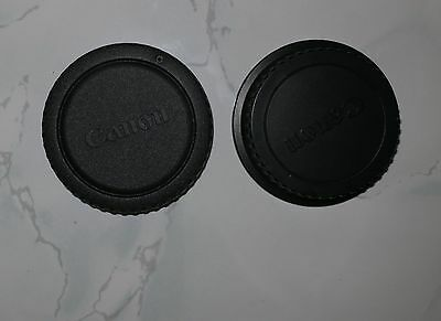 Cannon lens cap Rear and Cannon Body Cap