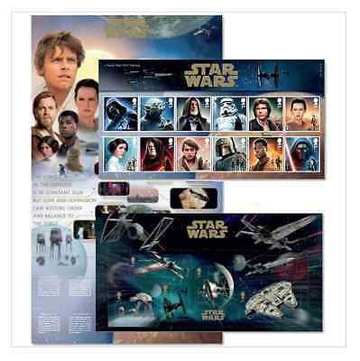 Star Wars The Force Awakens Royal Mail 18 Stamps PresentationPack Issue20.10.15