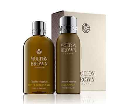 Molton Brown Tobacco Absolute Body Wash & Deodorant Gift Set Brand New