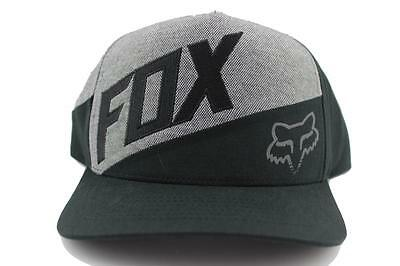 FOX Conjunction Snapback Mens Flat Bill Hat In Black From FOX Motocross