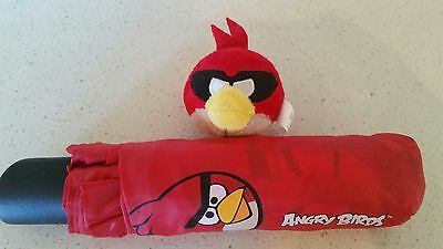 Angry Birds Umbrella NWOT and red bird pencil topper NWOT