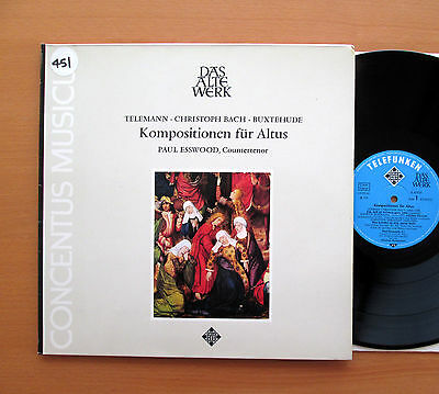Kompositionen Fur Altus Paul Esswood Nikolaus Harnoncourt Telefunken 6.41929 NM
