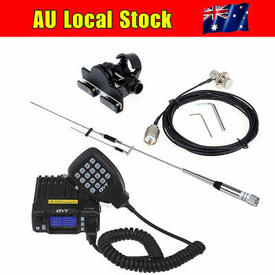 LOCAL!QYT KT-7900D Quad Band Car Mobile Radio+Antenna+Nagoya Mount+PL259 Cable