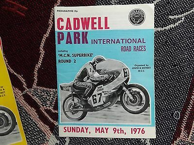 1976 Cadwell Park Programme 9/5/76 - International Road Races - Barry Sheene