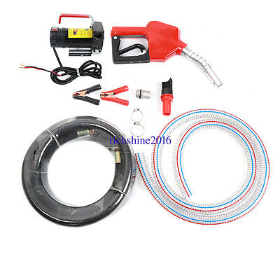 Car Fuel Auto Speed 12V 175W Diesel Fluid Extractor Electric Transfer Pump UK