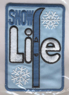 DS6080 Insignia Sewing Patch (10x7 cm) Snow LIFE